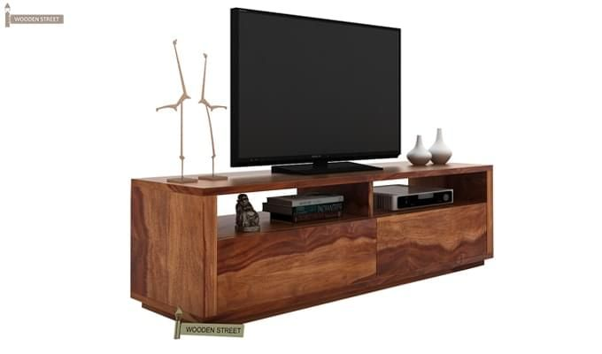 Marron Tv Unit (Teak Finish)-2