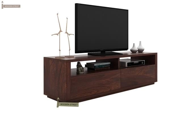 Marron Tv Unit (Walnut Finish)-2