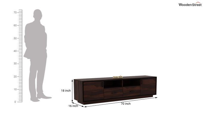 Medora Tv Unit (Walnut Finish)-5