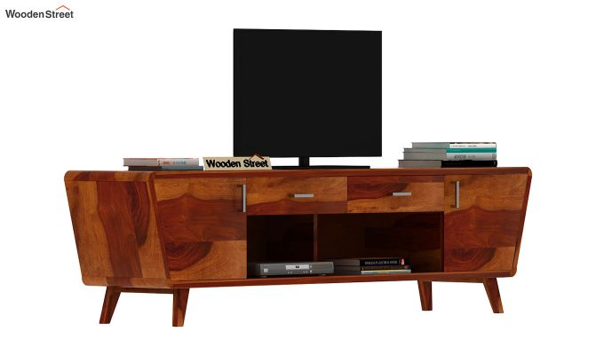 Melvina Tv Unit (Honey Finish)-2