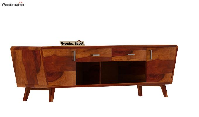 Melvina Tv Unit (Honey Finish)-4