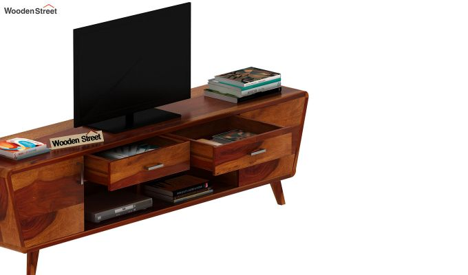 Melvina Tv Unit (Honey Finish)-6