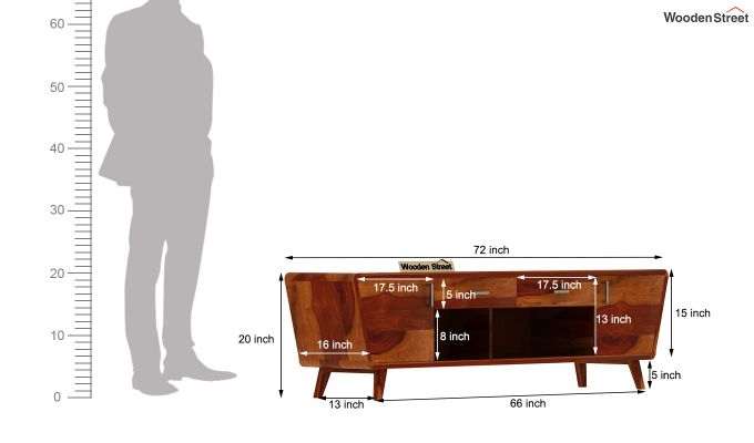 Melvina Tv Unit (Honey Finish)-7