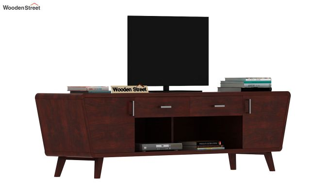Melvina Tv Unit (Mahogany Finish)-2