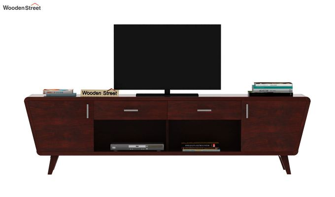 Melvina Tv Unit (Mahogany Finish)-3