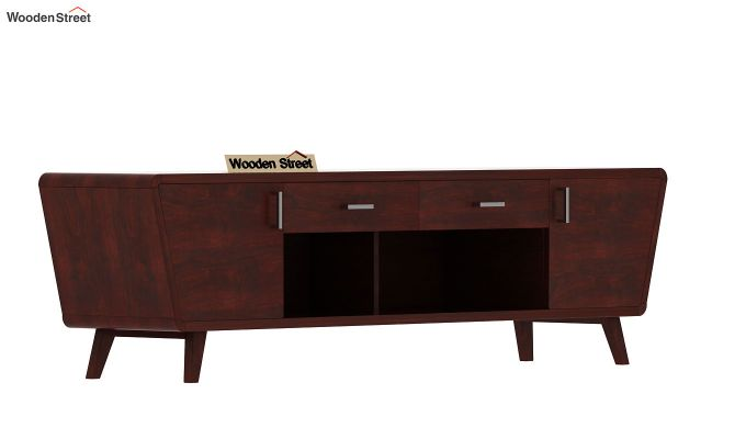 Melvina Tv Unit (Mahogany Finish)-4
