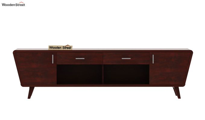 Melvina Tv Unit (Mahogany Finish)-5