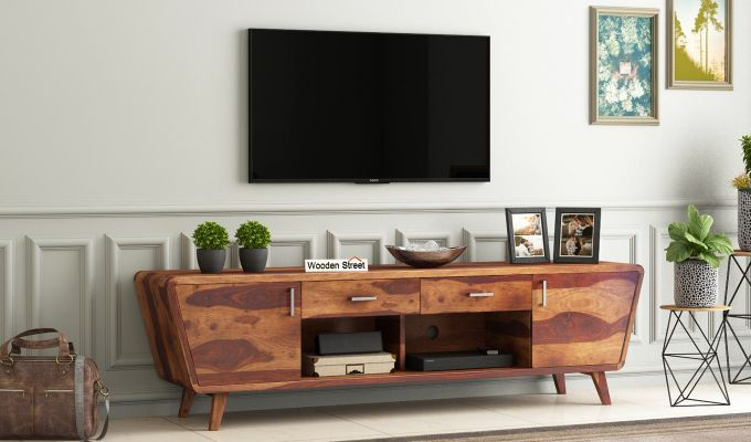 Melvina Tv Unit (Teak Finish)-1