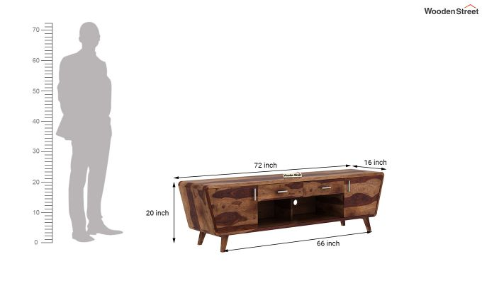 Melvina Tv Unit (Teak Finish)-5