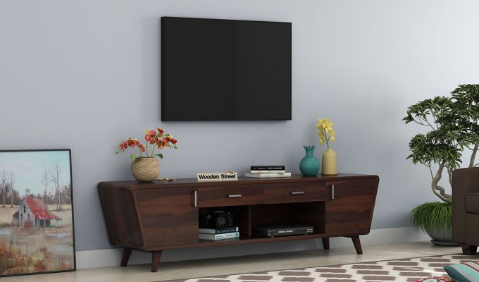 Melvina Tv Unit (Walnut Finish)-1