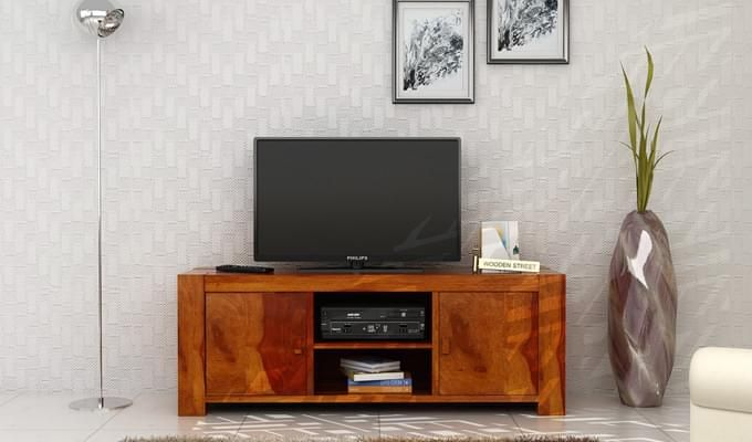 Morgan Tv Unit (Honey Finish)-1