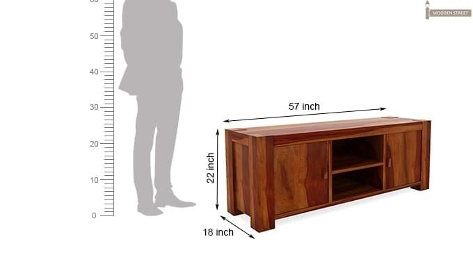 Morgan Tv Unit (Honey Finish)-6