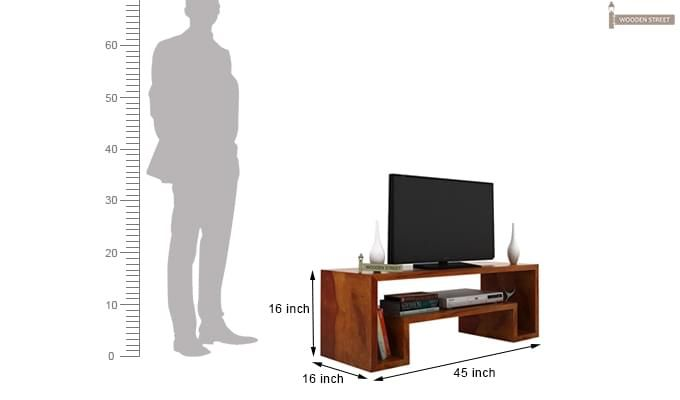 Morgen Tv Unit (Honey Finish)-4