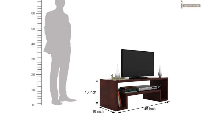Morgen Tv Unit (Mahogany Finish)-6