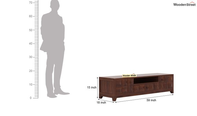 Morse Tv Unit (Walnut Finish)-5