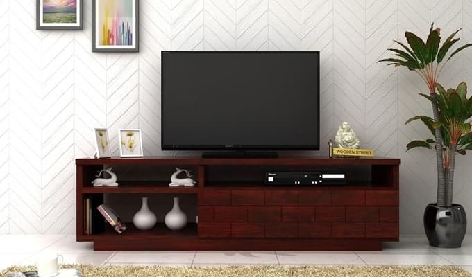 Natalia Tv Unit (Mahogany Finish)-1