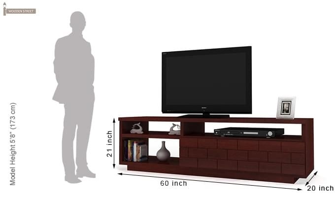 Natalia Tv Unit (Mahogany Finish)-6