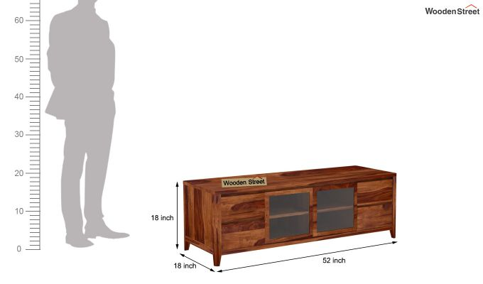 Patrik Tv Unit With Side Towers (Teak Finish)-9