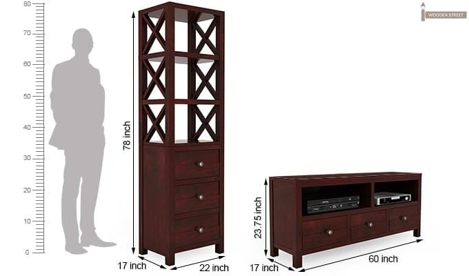 Pippin Tv Unit (Mahogany Finish)-8