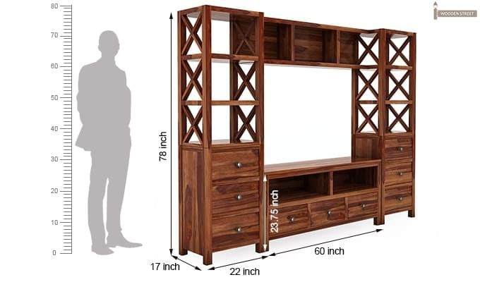 Pippin Tv Unit (Teak Finish)-8