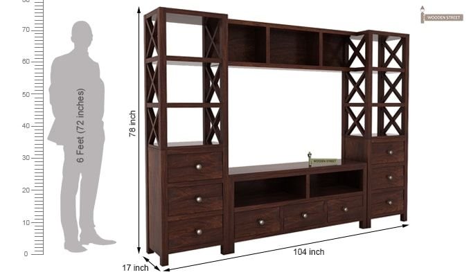 Pippin Tv Unit (Walnut Finish)-6