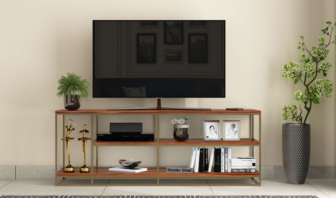 Porter Tv Unit (Teak Finish)-2