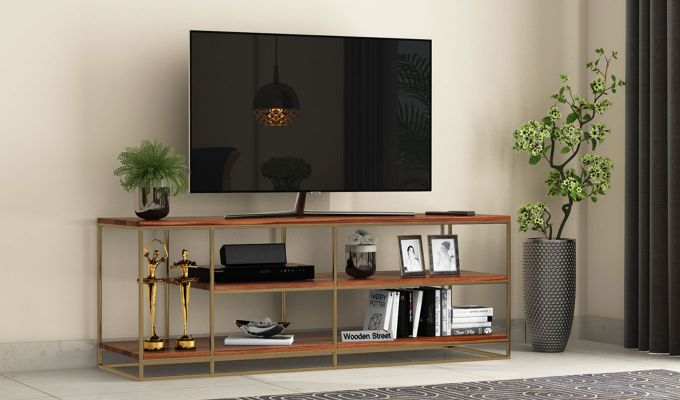 Porter Tv Unit (Teak Finish)-1