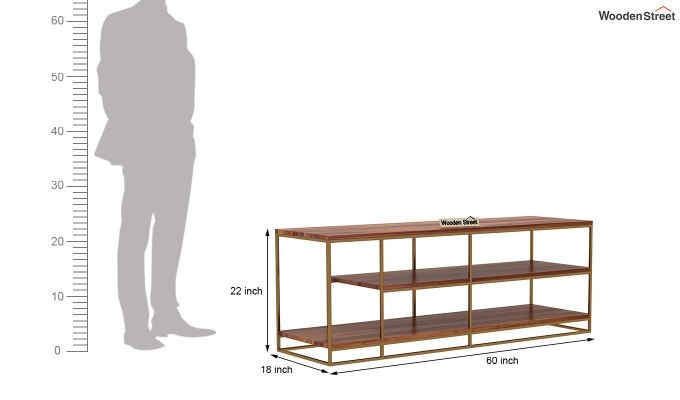Porter Tv Unit (Teak Finish)-5
