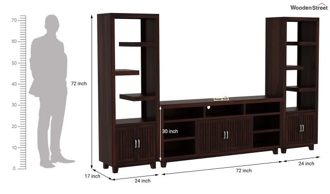 Reverie Tv Unit (Walnut Finish)-9