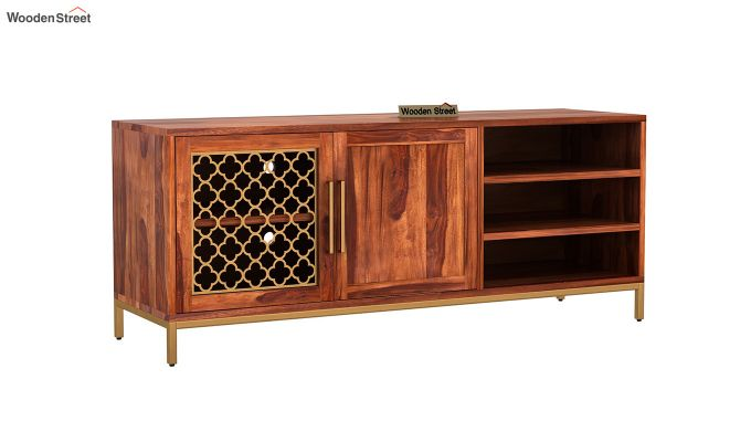 Rivia Tv Unit (Honey Finish)-2
