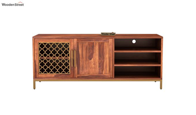 Rivia Tv Unit (Honey Finish)-3
