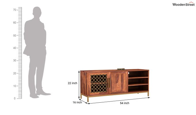 Rivia Tv Unit (Honey Finish)-6