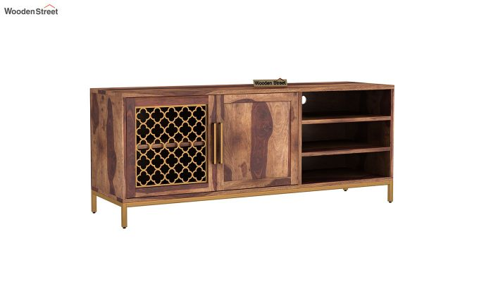 Rivia Tv Unit (Teak Finish)-2