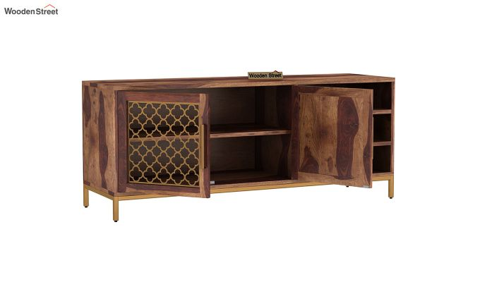 Rivia Tv Unit (Teak Finish)-4