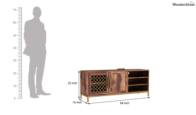 Rivia Tv Unit (Teak Finish)-6