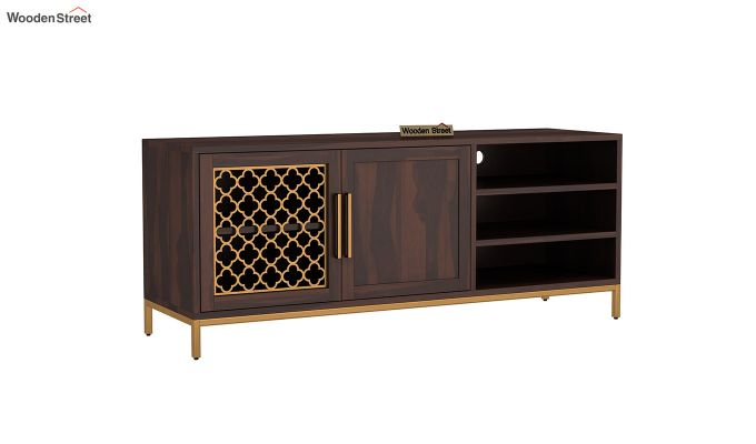 Rivia Tv Unit (Walnut Finish)-2