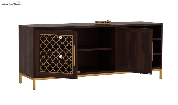 Rivia Tv Unit (Walnut Finish)-4