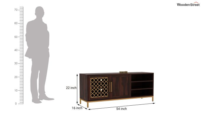 Rivia Tv Unit (Walnut Finish)-6