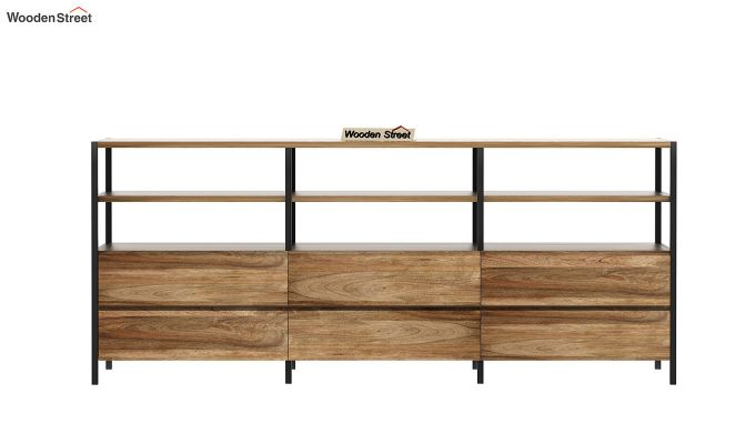 Sienna Loft Tv Unit With Drawers (Natural Finish)-5
