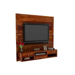 Snapple Wall Mount Tv Unit (Honey Finish)