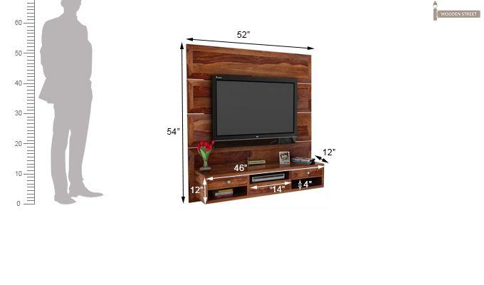 Snapple Wall Mount Tv Unit (Teak Finish)-3