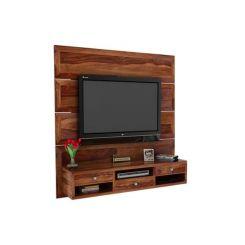 Snapple Wall Mount Tv Unit (Teak Finish)