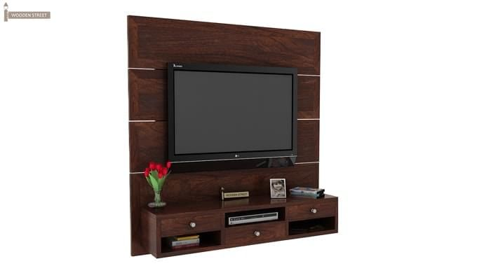 Snapple Wall Mount Tv Unit (Walnut Finish)-2