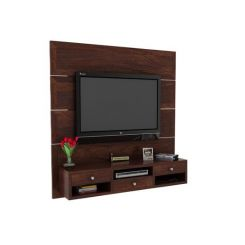 Snapple Wall Mount Tv Unit (Walnut Finish)