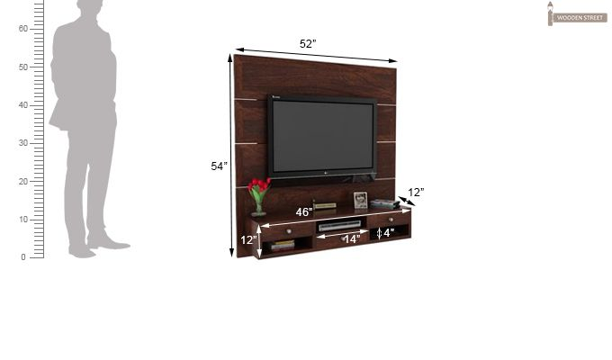 Snapple Wall Mount Tv Unit (Walnut Finish)-3