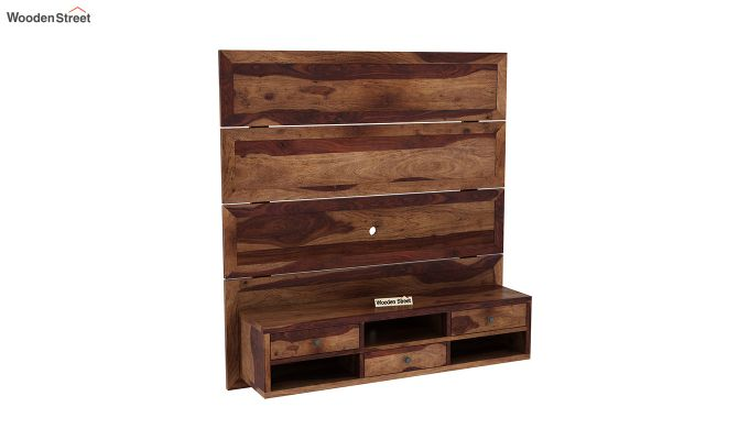 Snapple Wall Mount Tv Unit (Teak Finish)-2