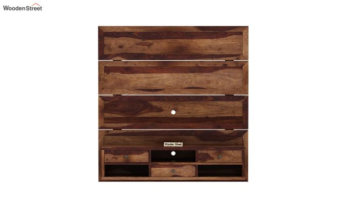 Snapple Wall Mount Tv Unit (Teak Finish)-3