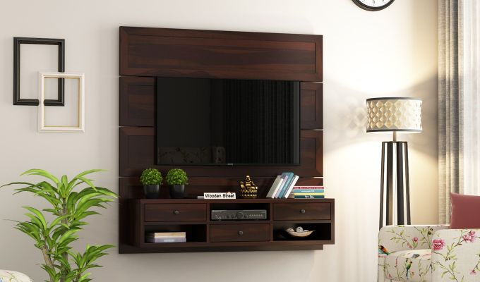 Snapple Wall Mount Tv Unit (Walnut Finish)-1