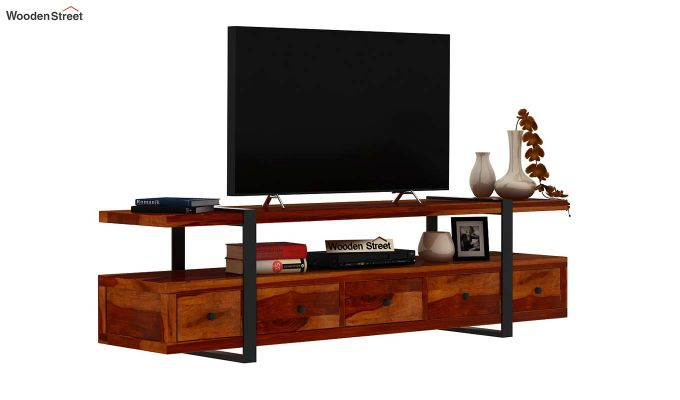 Solari Tv Unit (Honey Finish)-2