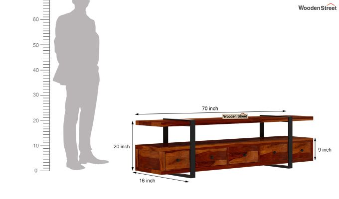 Solari Tv Unit (Honey Finish)-7